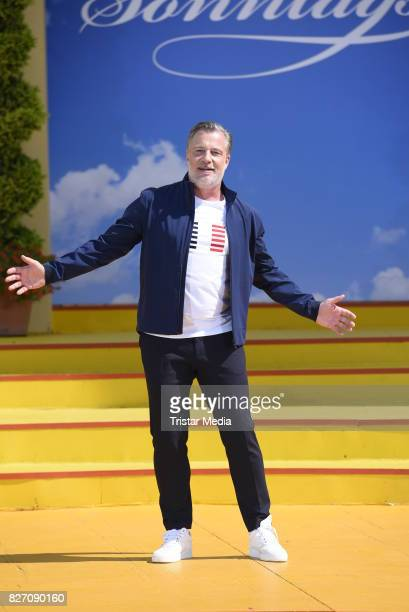 Marc Marshall during the ARD Live TV Show 'Immer Wieder Sonntags' at EuropaPark on August 6 2017 in Rust Germany