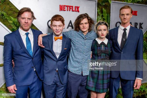 Marc Menchaca Carson Holmes Charlie Tahan Julia Garner and Chris Baker attend the 'Ozark' New York Screening at The Metrograph on July 20 2017 in New...