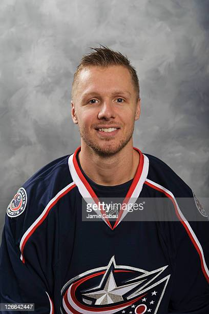 Marc Methot of the Columbus Blue Jackets poses for his headshot on September 16 2011 at Nationwide Arena in Columbus Ohio
