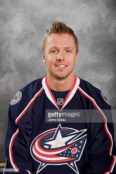 Marc Methot of the Columbus Blue Jackets poses for his official headshot for the 20102011 NHL season at Nationwide Arena on September 18 2010 in...