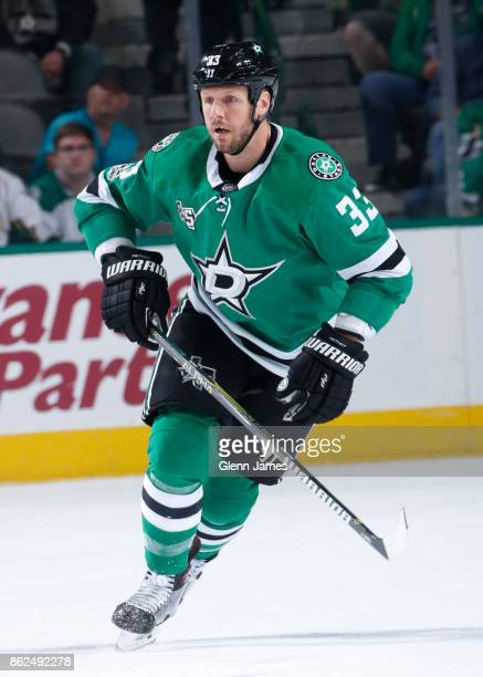 Marc Methot of the Dallas Stars skates against the Colorado Avalanche at the American Airlines Center on October 14 2017 in Dallas Texas
