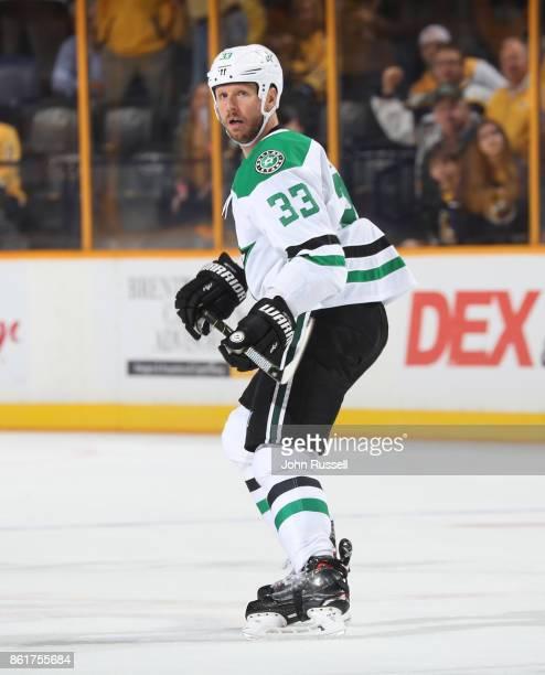 Marc Methot of the Dallas Stars skates against the Nashville Predators during an NHL game at Bridgestone Arena on October 12 2017 in Nashville...
