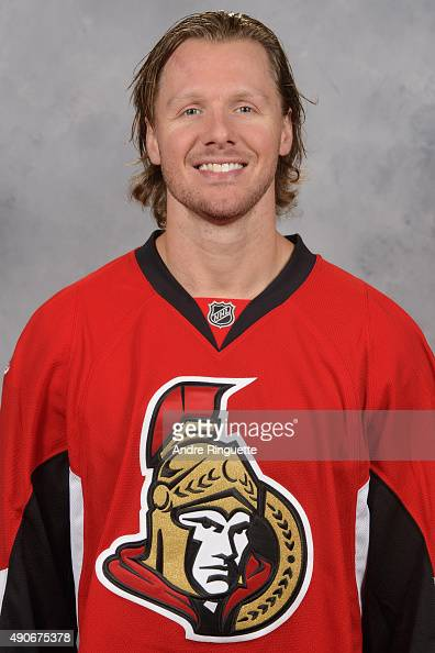 Marc Methot of the Ottawa Senators poses for his official headshot for the 20152016 season on September 17 2015 at Canadian Tire Centre in Ottawa...