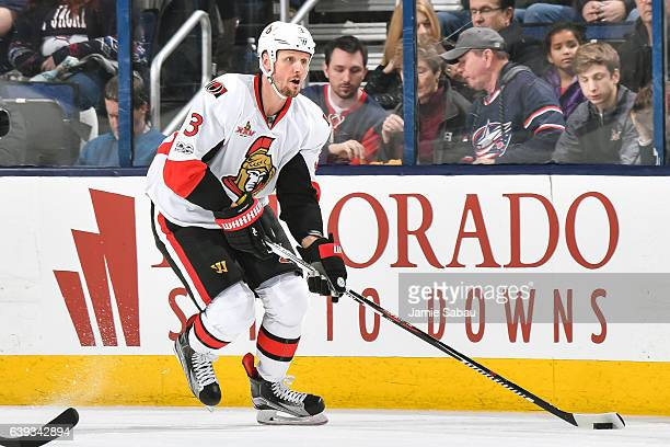 Marc Methot of the Ottawa Senators skates against the Columbus Blue Jackets on January 19 2017 at Nationwide Arena in Columbus Ohio