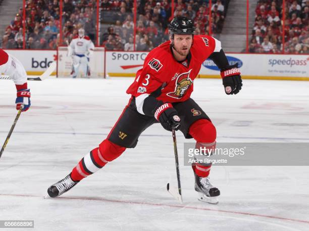 Marc Methot of the Ottawa Senators skates against the Montreal Canadiens at Canadian Tire Centre on March 18 2017 in Ottawa Ontario Canada