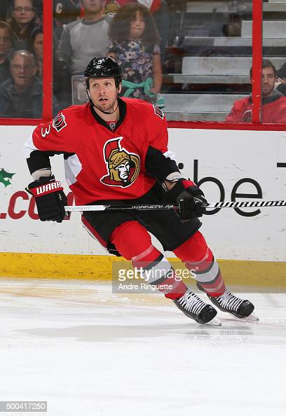 Marc Methot of the Ottawa Senators skates against the New York Islanders at Canadian Tire Centre on December 5 2015 in Ottawa Ontario Canada