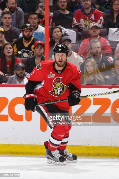 Marc Methot of the Ottawa Senators skates against the Pittsburgh Penguins in Game Three of the Eastern Conference Final during the 2017 NHL Stanley...