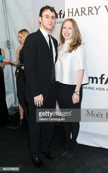 Marc Mezvinsky and Chelsea Clinton attend the 2015 amfAR New York Gala at Cipriani Wall Street on February 11 2015 in New York City