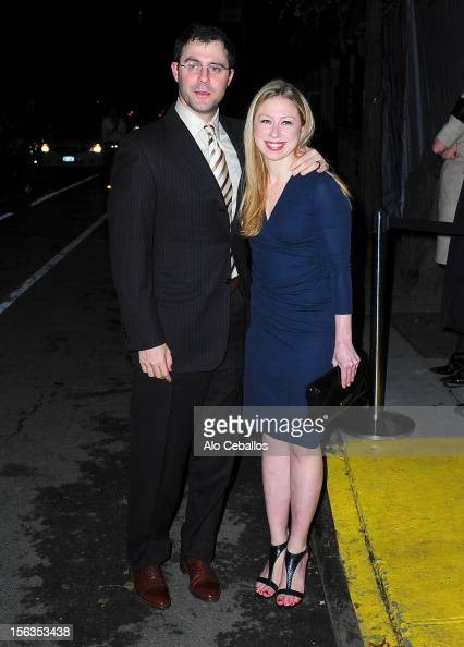 Marc Mezvinsky and Chelsea Clinton attend the 9th annual CFDA/Vogue Fashion Fund Awards at Center 548 on November 13 2012 in New York City