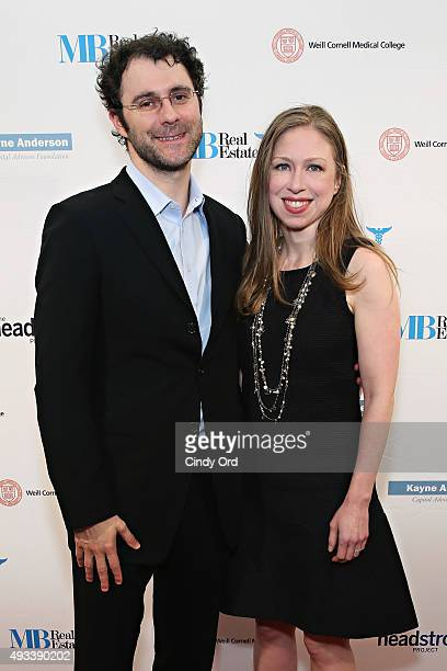 Marc Mezvinsky and Chelsea Clinton attend The Headstrong Project's 3rd Annual Words of War Event at One World Trade Center on October 19 2015 in New...