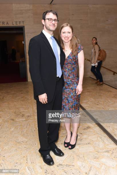 Marc Mezvinsky and Chelsea Clinton attend Youth America Grand Prix's 2017 Stars of Today Meet the Stars of Tomorrow Gala at David H Koch Theater...