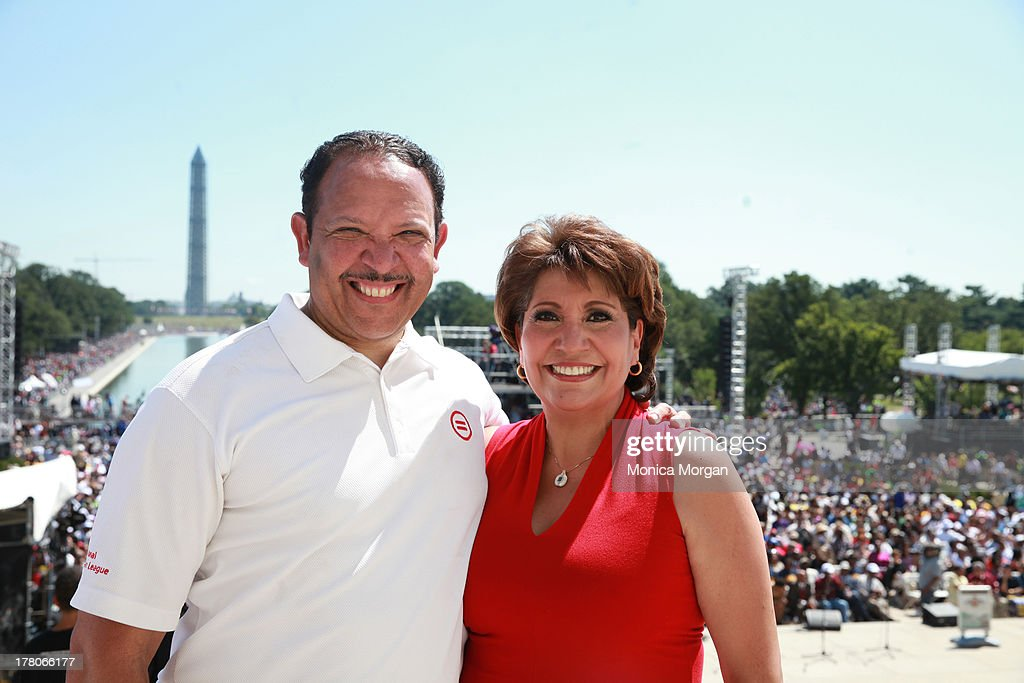 Marc Morial and <a gi-track='captionPersonalityLinkClicked' href=/galleries/search?phrase=Janet+Murguia&family=editorial&specificpeople=646135 ng-click='$event.stopPropagation()'>Janet Murguia</a> attends the 50th Anniversary Of Martin Luther King's March On Washington on August 24, 2013 in Washington, DC.