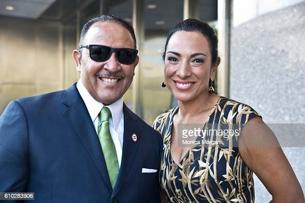 Marc Morial and Michelle Miller arrives at the American History Museum for the dedication ceremony of the National Museum of African American History...