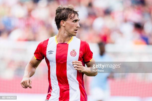 20 Marc Muniesa from Spain of Girona FC during the Costa Brava Trophy match between Girona FC and Manchester City at Estadi de Montilivi on August 15...