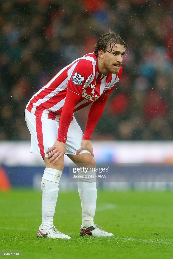 Marc Muniesa of Stoke City during the Barclays Premier League match between Stoke City and Everton at the Britannia Stadium on February 06, 2016 in Stoke-on-Trent, England.