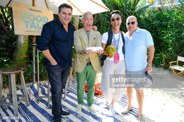 Marc Murphy Geoffrey Zakarian Carla Hall and Andrew Zimmern attend SiriusXM's Food Talk with Geoffrey Zakarian at Miami Beach EDITION on February 24...