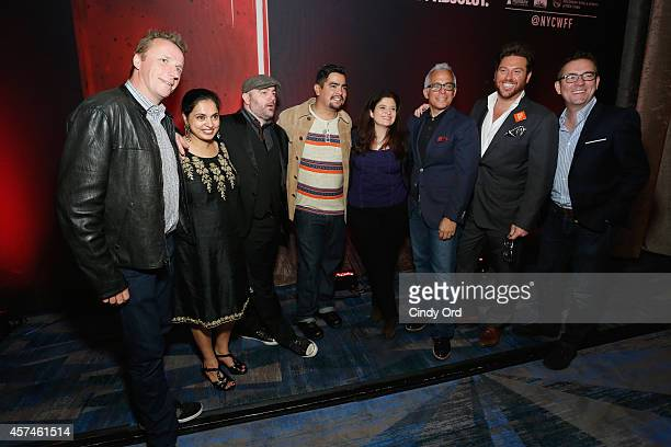 Marc Murphy Maneet Chauhan Chris Santos Aaron Sanchez Alex Guarnaschelli Geoffrey Zakarian Scott Conant and Ted Allen pose at CHOPPED Best Bloody...