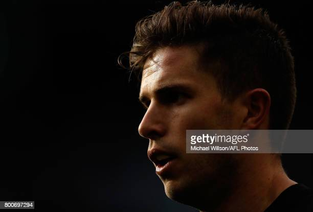 Marc Murphy of the Blues looks on during the 2017 AFL round 14 match between the Richmond Tigers and the Carlton Blues at the Melbourne Cricket...