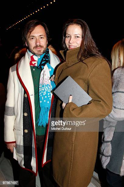Marc Newson and Charlotte Stockdale during the Yves SaintLaurent Ready to Wear show as part of the Paris Womenswear Fashion Week Fall/Winter 2011 at...