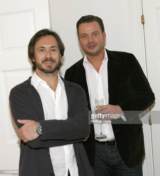Marc Newson and Roberto Behar during Art Basel Miami Beach 2006 IKEPOD Cocktail Party for Marc Newson at George Lindemann Residence in Miami Beach...