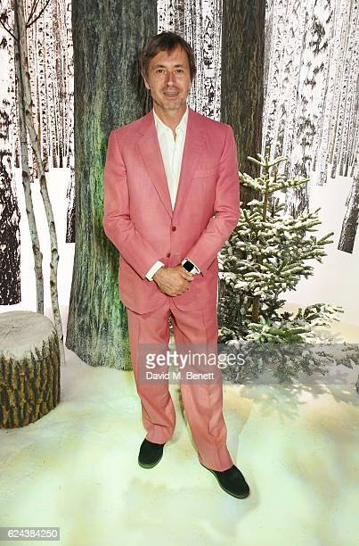 Marc Newson attends Claridge's Christmas Tree 2016 Party with tree designed by Sir Jony Ive and Marc Newson at Claridge's Hotel on November 19 2016...
