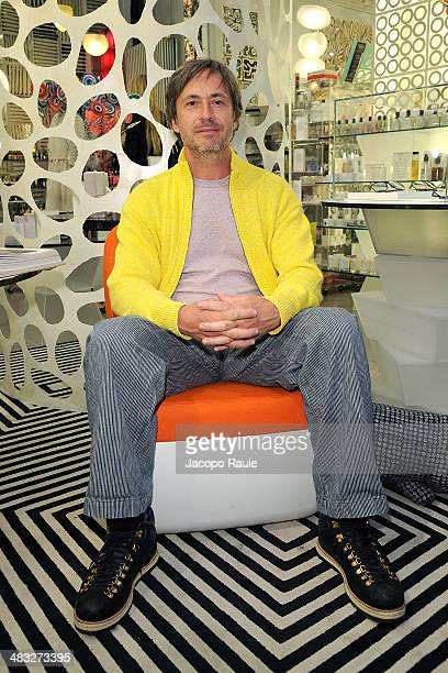 Marc Newson attends 'Safilo By Marc Newson' Presentation on April 7 2014 in Milan Italy