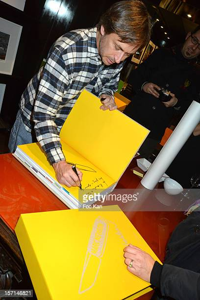 Marc Newson attends the Marc Newson book launch cocktail at the Taschen Store on November 28 2012 in Paris France