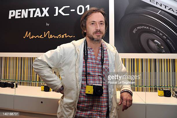 Marc Newson attends the Marc Newson Pentax The Unveiling Of 'K01' Champagne Cocktail at Colette during Paris Fashion Week on February 29 2012 in...