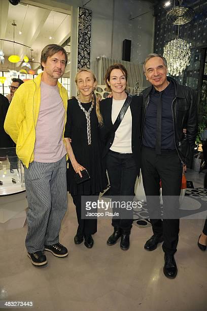 Marc Newson Carla Sozzani Stefania Rocca and Carlo Capasa attend 'Safilo By Marc Newson' Presentation on April 7 2014 in Milan Italy