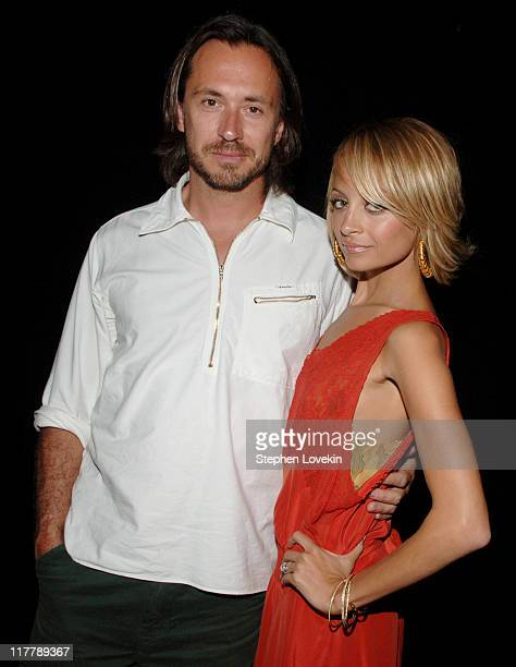 Marc Newson designer and Nicole Richie during Nicole Richie Kicks Off Fashion Week With A Journey Into The House of Samsonite at The New Space in New...