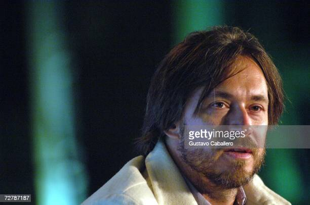 Marc Newson on stage during the Art Loves Design Talk for Art Basel Miami Beach 2006 on December 9 2006 in Miami Florida