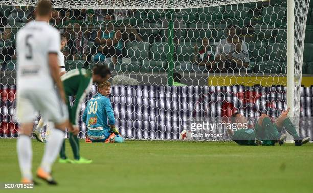 Marc Nordqvist of IFK Mariehamn after loosing a goal during the match between Legia Warszawa and IFK Mariehamn in the Champions League second...