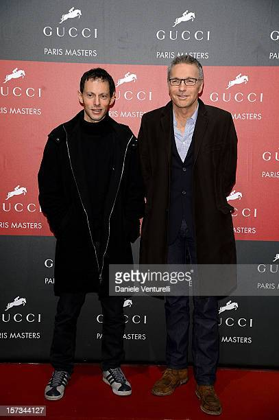 Marc Olivier Fogiel and guest attend the Gucci Paris Masters 2012 at Paris Nord Villepinte on December 2 2012 in Paris France