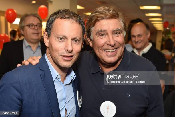 Marc Olivier Fogiel and Jean Pierre Foucault attend the Aurel BGC Charity Benefit Day 2017 on September 11 2017 in Paris France