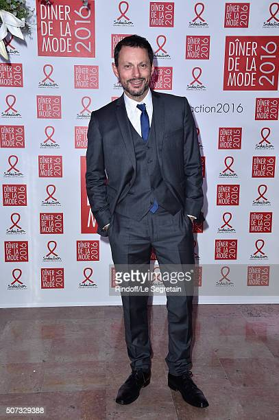 Marc Olivier Fogiel attends the Sidaction Gala Dinner 2016 as part of Paris Fashion Week on January 28 2016 in Paris France