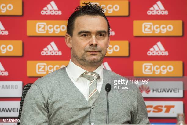 Marc Overmars of Ajaxduring the press presentation of David Neres at the Amsterdam Arena on February 17 2017 in Amsterdam The Netherlands
