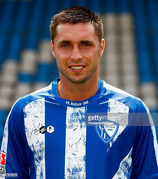 Marc Pfertzel poses during the VfL Bochum team presentation at the rewirpower stadium on June 29 2009 in Bochum Germany