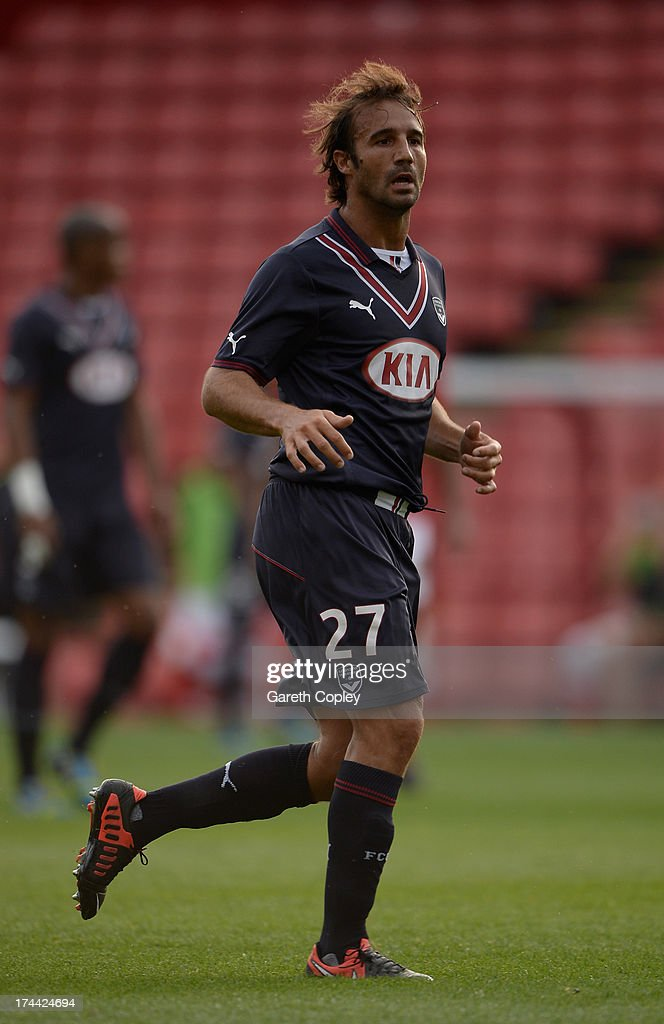 <a gi-track='captionPersonalityLinkClicked' href=/galleries/search?phrase=Marc+Planus&family=editorial&specificpeople=708262 ng-click='$event.stopPropagation()'>Marc Planus</a> of Bordeaux during a Pre Season Friendly between Barnsley and Bordeaux at Oakwell Stadium on July 25, 2013 in Barnsley, England.