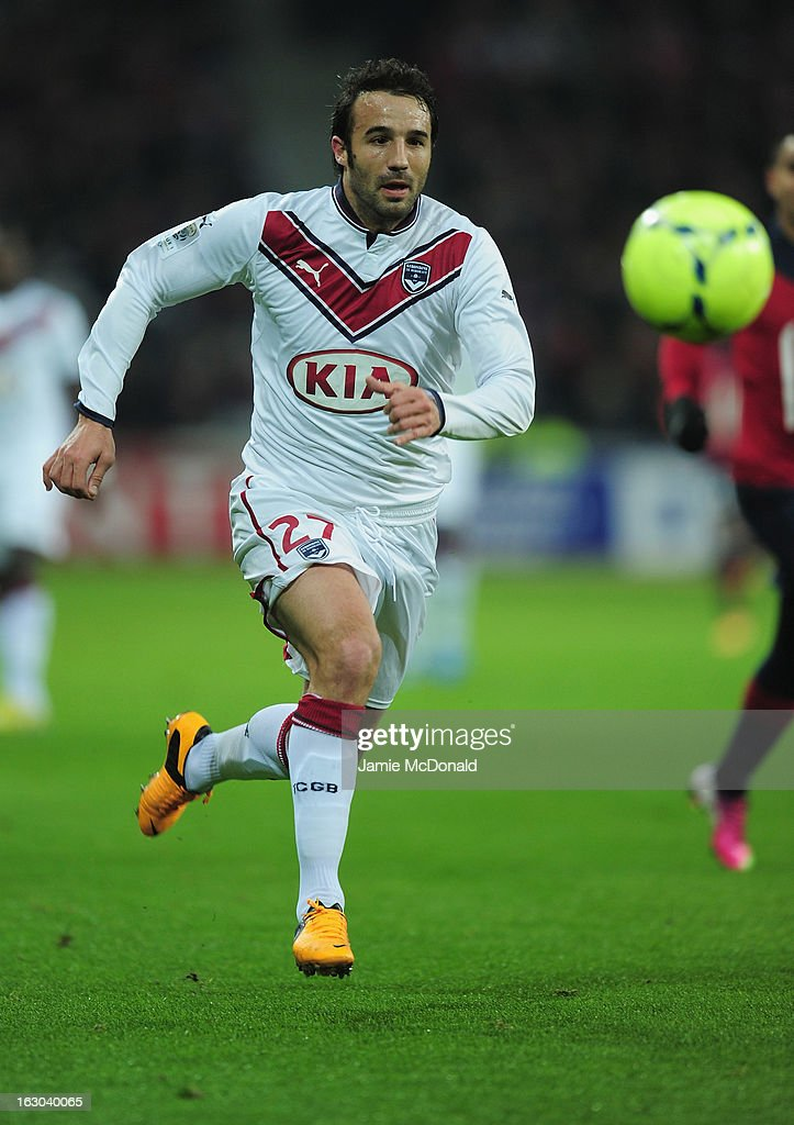 <a gi-track='captionPersonalityLinkClicked' href=/galleries/search?phrase=Marc+Planus&family=editorial&specificpeople=708262 ng-click='$event.stopPropagation()'>Marc Planus</a> of Bordeaux in action during the Ligue 1 match between LOSC Lille Metropole v FC Girondins de Bordeaux at the Grand Stade Lille-Metropole on March 3, 2013 in Lille, France.