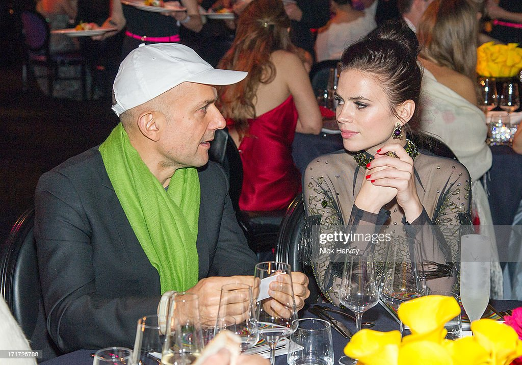 Marc Quinn and Hayley Atwell attend the 15th Annual White Tie and Tiara Ball to Benefit Elton John AIDS Foundation in Association with Chopard at Woodside on June 27, 2013 in Windsor, England. No sales to online/digital media worldwide until the 14th of July. No sales before July 14th, 2013 in UK, Spain, Switzerland, Mexico, Dubai, Russia, Serbia, Bulgaria, Turkey, Argentina, Chile, Peru, Ecuador, Colombia, Venezuela, Puerto Rico, Dominican Republic, Greece, Canada, Thailand, Indonesia, Morocco, Malaysia, India, Pakistan, Nigeria. All pictures are for editorial use only and mention of 'Chopard' and 'The Elton John Aids Foundation' are compulsory. No sales ever to Ok, Now, Closer, Reveal, Heat, Look or Grazia magazines in the United Kingdom. No sales ever to any jewellers or watchmakers other than Chopard.