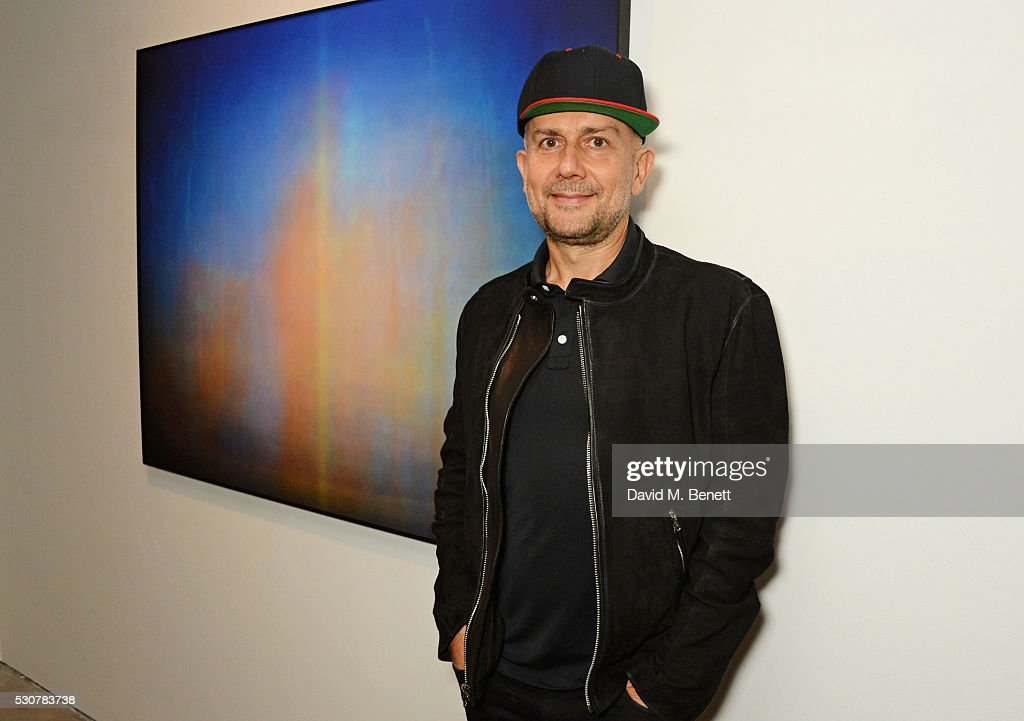 <a gi-track='captionPersonalityLinkClicked' href=/galleries/search?phrase=Marc+Quinn&family=editorial&specificpeople=664862 ng-click='$event.stopPropagation()'>Marc Quinn</a> attends a private view of 'Photographs Of Films' by artist Jason Shulman at The Cob Gallery on May 11, 2016 in London, England.