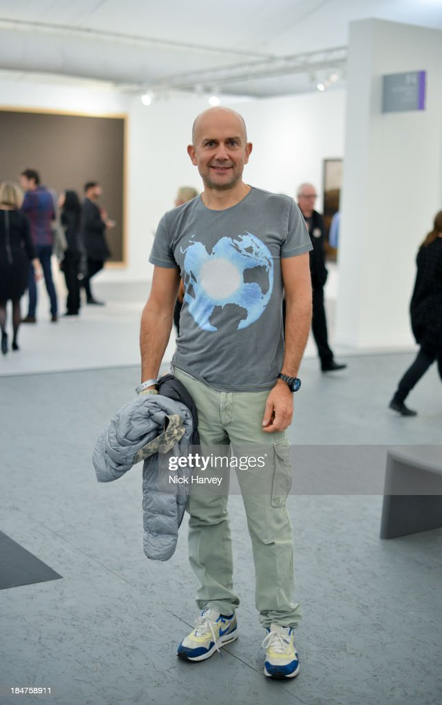 <a gi-track='captionPersonalityLinkClicked' href=/galleries/search?phrase=Marc+Quinn&family=editorial&specificpeople=664862 ng-click='$event.stopPropagation()'>Marc Quinn</a> attends the private view for Frieze on October 16, 2013 in London, England.