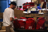 Marc Rich assembles emergency survival kits at the Earthquake Supply Center on August 27 2014 in San Rafael California Days after a 60 earthquake...