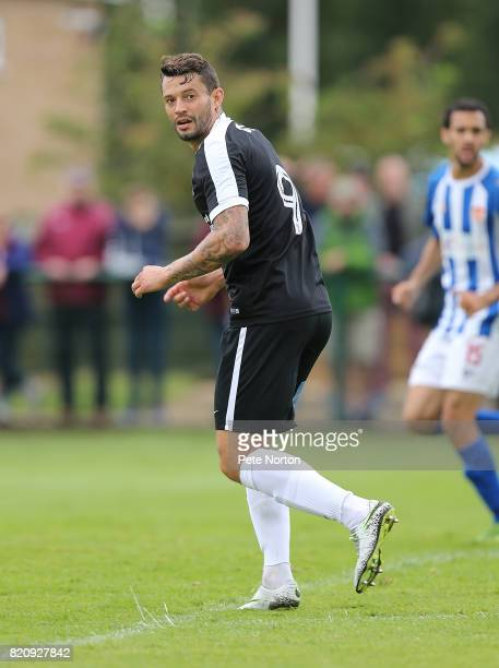 Marc Richards of Northampton Town in action during the PreSeason Friendly match between Kettering Town and Northampton Town at the Dog Duck on July...