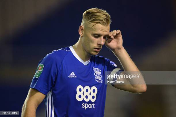 Maikel Kieftenbeld of Birmingham City looks dejected after the Carabao Cup Second Round match between Birmingham City and AFC Bournemouth at St...