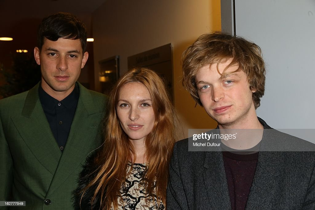 Marc Ronson, Josephine de la Baume and Alexandre de la Baume attend the Etam Live Show Lingerie at Bourse du Commerce on February 26, 2013 in Paris, France.