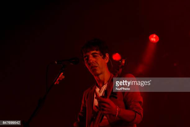 Marc Ros of Sidonie performs on stage during Ebrovision Music Festival on September 1 2017 in Miranda de Ebro Spain