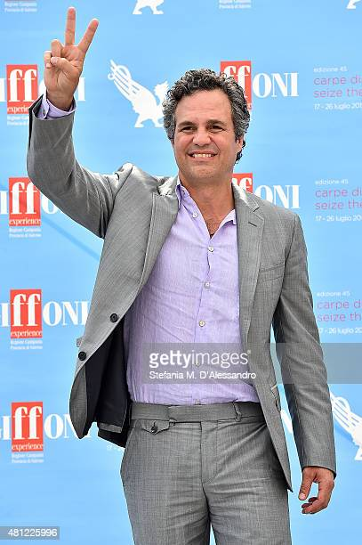 Marc Ruffalo attends Giffoni Film Festival 2015 photocall on July 18 2015 in Giffoni Valle Piana Italy