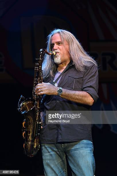 Marc Russo of the Doobie Brothers performs on the Briggs Stratton Big Backyard Stage at the Henry W Maier Festival Park during the HarleyDavidson...