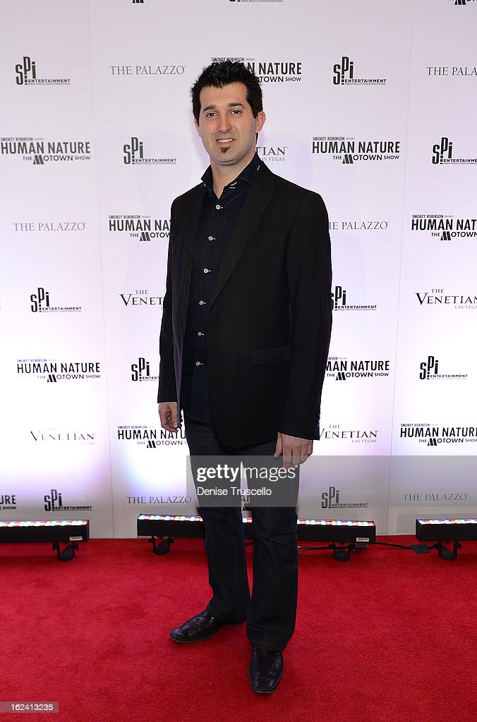 <a gi-track='captionPersonalityLinkClicked' href=/galleries/search?phrase=Marc+Savard&family=editorial&specificpeople=202184 ng-click='$event.stopPropagation()'>Marc Savard</a> arrives at 'Smokey Robinson Presents Human Nature: The Motown Show' opening at The Venetian Resort Hotel Casino on February 22, 2013 in Las Vegas, Nevada.